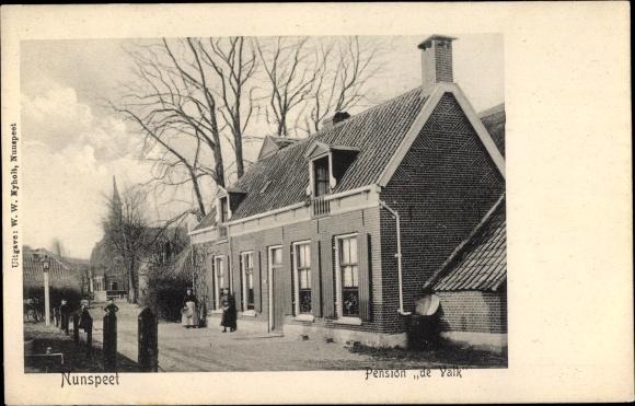 Ak Nunspeet Gelderland, Pension de Valk 0