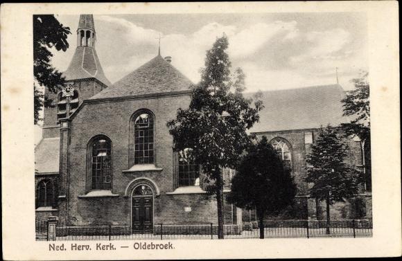 Ak Oldebroek Gelderland, Ned. Herv. Kerk 0