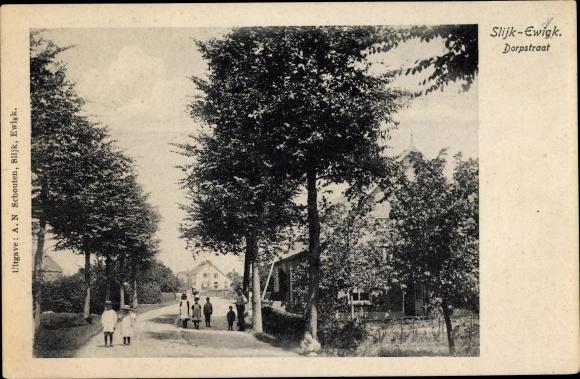 Ak Slijk Ewijk Gelderland, Dorpsstraat 0