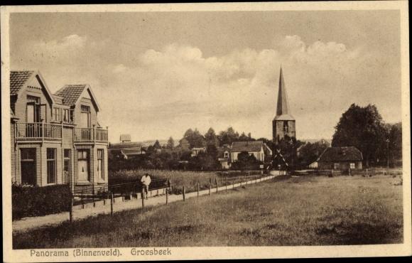 Ak Groesbeek Gelderland, Panorama, Binnenveld 0