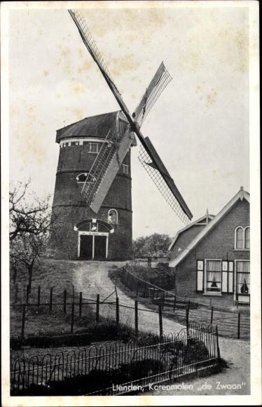 Ak Lienden Buren Gelderland, Korenmolen de Zwaan 0