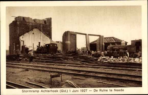 Ak Neede Berkelland Gelderland, Sturmramp Achterhoek, 01.07.1927 0