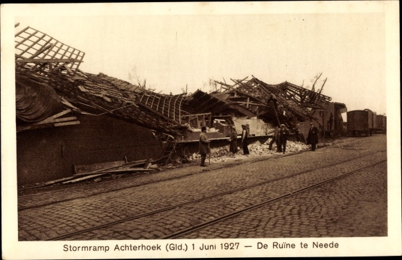 Ak Achterhoek Gelderland, Stormramp 1927, de Ruine te Neede 0