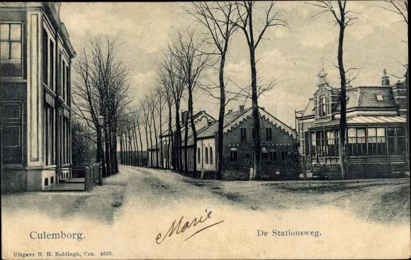 Ak Culemborg Gelderland, De Stationsweg 0
