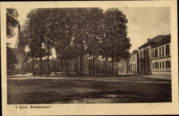 Ak Breedevoort Gelderland, 't Zand, Platz, Häuser 0