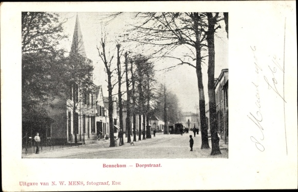 Ak Bennekom Gelderland, Dorpstraat, Kirchturm 0