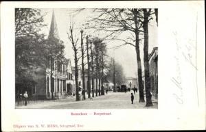 Ak Bennekom Gelderland, Dorpstraat, Kirchturm
