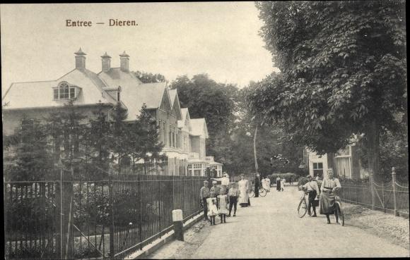 Ak Dieren Gelderland, Kanaalbrug, Ortseingang, Kinder, Fahrräder 0