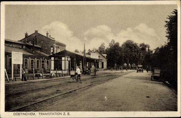 Ak Doetinchem Gelderland Niederlande, Tramstation Z. E., Haltestelle 0