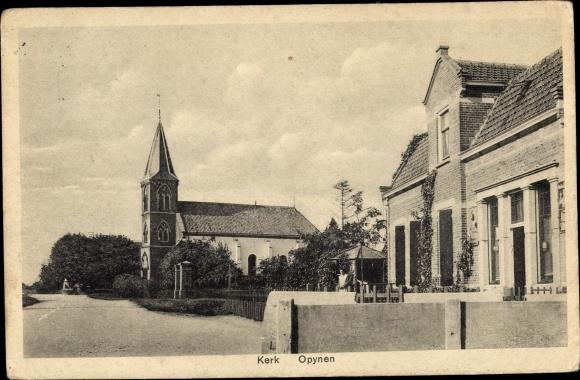 Ak Opynen Gelderland, Kerk, Kirche, Haus 0