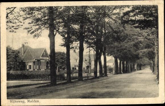 Ak Malden Heumen Gelderland Niederlande, Rijksweg 0
