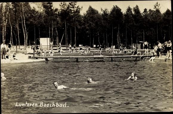 Ak Lunteren Ede Gelderland, Boschbad, Freibad 0