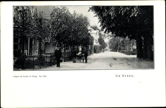 Ak De Steeg Rheden Gelderland, Straßenpartie, Männer 0