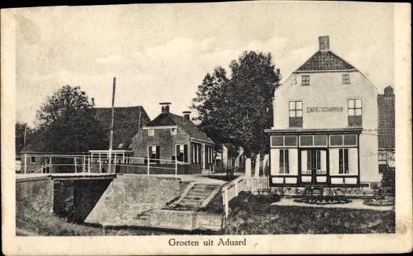 Ak Aduard Groningen, Café Schipper 0