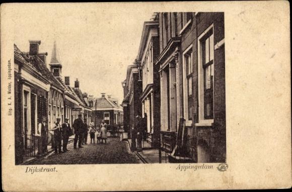 Ak Appingedam Groningen Niederlande, Dijkstraat 0