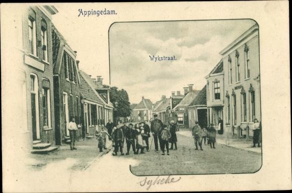 Ak Appingedam Groningen Niederlande, Wykstraat 0
