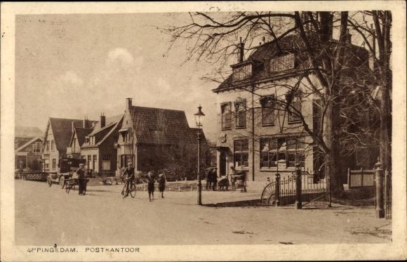 Ak Appingedam Groningen Niederlande, Postkantoor 0