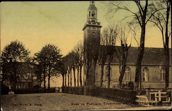 Ak Appingedam Groningen Niederlande, Kerk en Pastorie 0