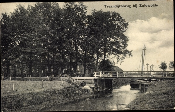 Ak Zuidwolde Drenthe, Traandijksbrug, Brücke 0