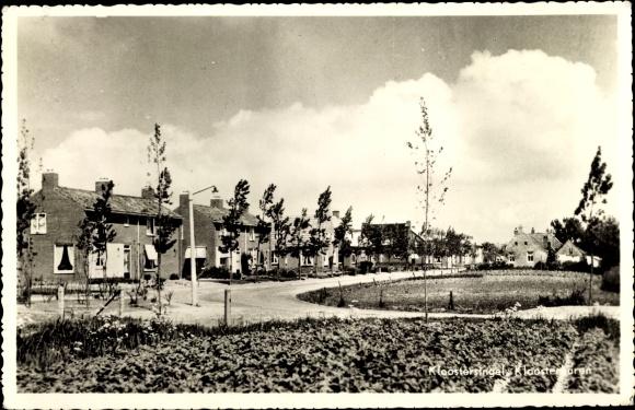 Ak Kloostersingel Kloosterburen Drenthe, Straßenpartie 0