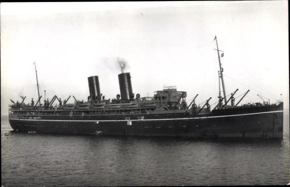Ak Steamer Rajputana, Dampfschiff, P&O 0