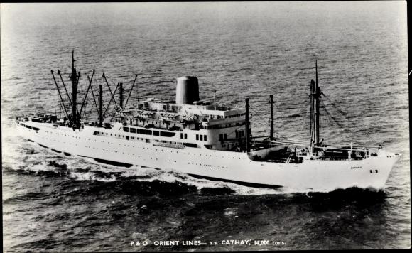 Ak Steamer Cathay, Dampfschiff, P&O 0