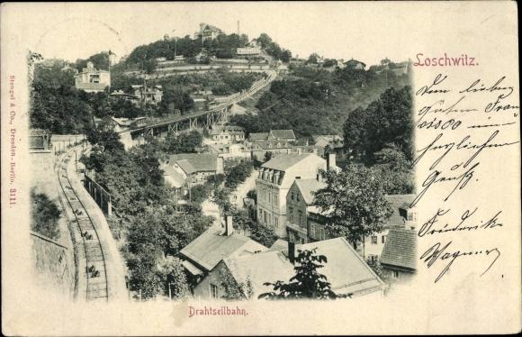Ak Dresden Loschwitz, Drahtseilbahn 0