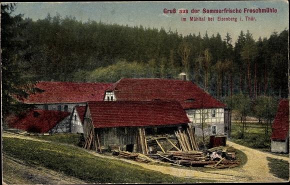 Ak Mühltal Eisenberg in Thüringen, Sommerfrische Froschmühle 0