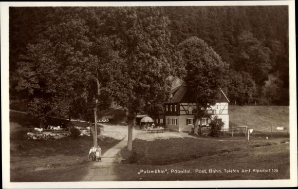 Ak Kipsdorf Hainsberg Freital in Sachsen, Putzmühle, Pöbeltal 0