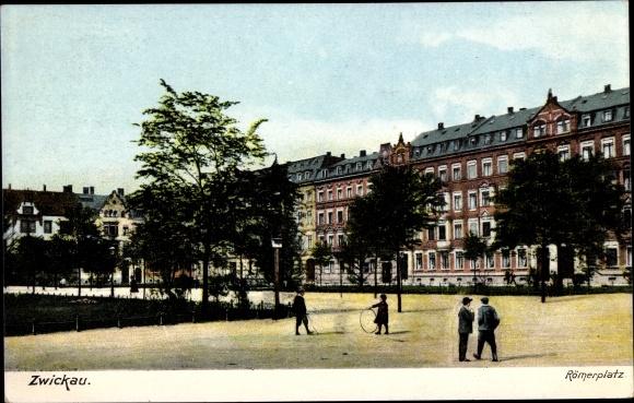 Ak Zwickau in Sachsen, Römerplatz, Ottmar Zieher 5179 0