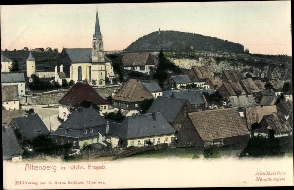 Ak Altenberg Erzgebirge, Teilansicht 0