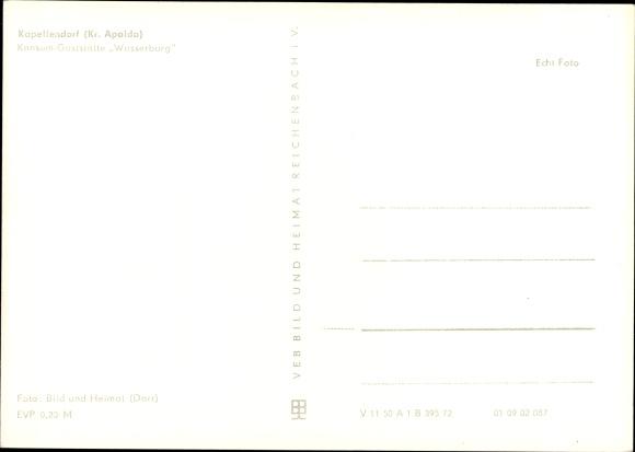 Ak Kapellendorf Weimarer Land, Konsum Gaststätte Wasserburg, Innenansicht, Walter Ulbricht Portrait 1