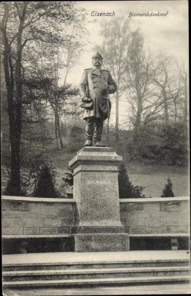 Ak Lutherstadt Eisenach in Thüringen, Bismarckdenkmal 0