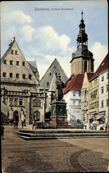 Ak Lutherstadt Eisenach in Thüringen, Luther Denkmal 0