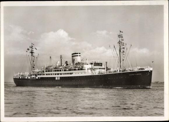 Ak HAPAG Dampfschiff Cordillera, Doppelschraubenmotorschiff 0
