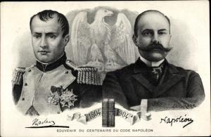 Künstler Ak Rose, Leon, Souvenir du Centenaire du Code Napoleon 1904