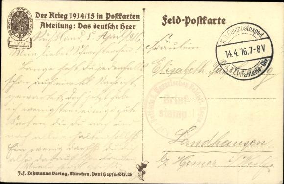 Künstler Ak Hoffmann, Anton, Feldartillerie, Das deutsche Heer 1