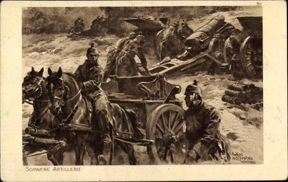 Künstler Ak Hoffmann, Anton, Schwere Artillerie, Das deutsche Heer 0