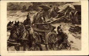 Künstler Ak Hoffmann, Anton, Schwere Artillerie, Das deutsche Heer