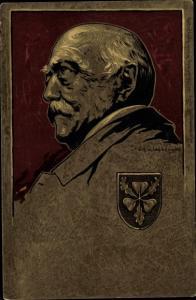 Wappen Künstler Litho Schellenberger, Fürst Otto von Bismarck