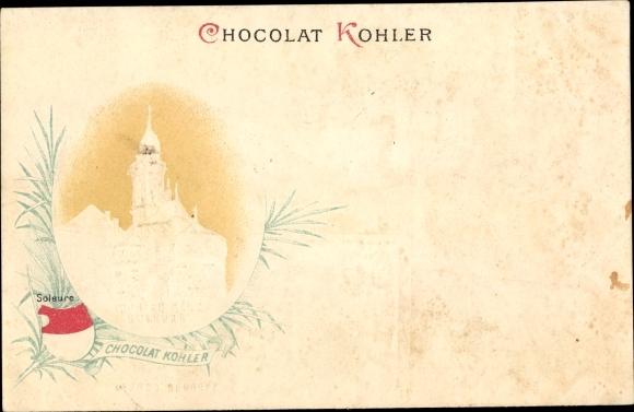 Präge Litho Chocholat Kohler, Reklame, Kirche 0