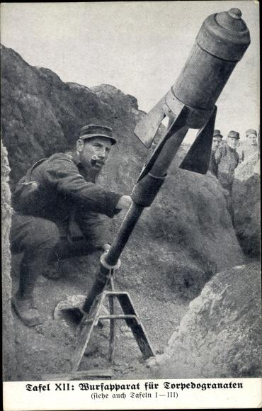 Ak Wurfapparat für Torpedogranaten 0