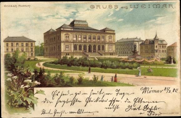 Litho Weimar in Thüringen, Großh. Museum 0