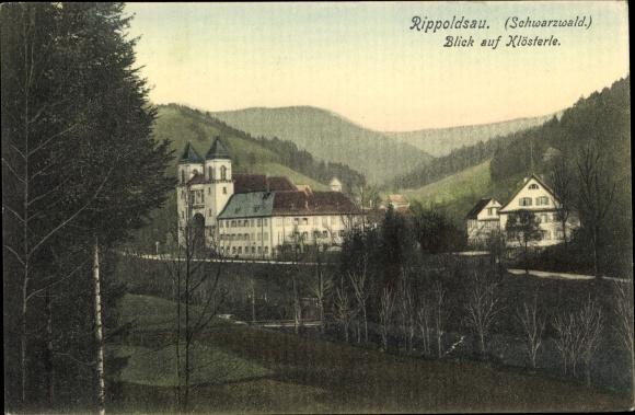 Ak Bad Rippoldsau Schapbach im Schwarzwald, Blick auf Klösterle 0