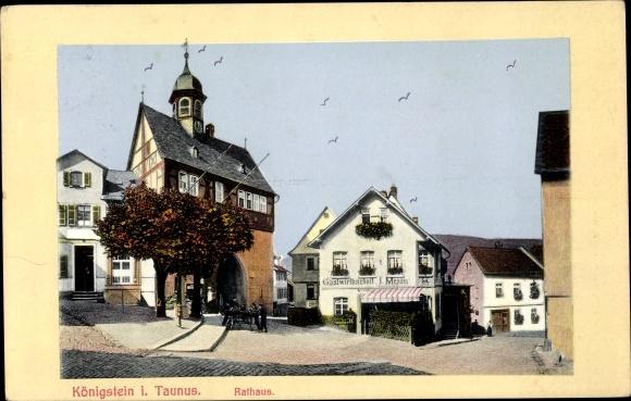 Ak Königstein im Taunus, Rathaus 0