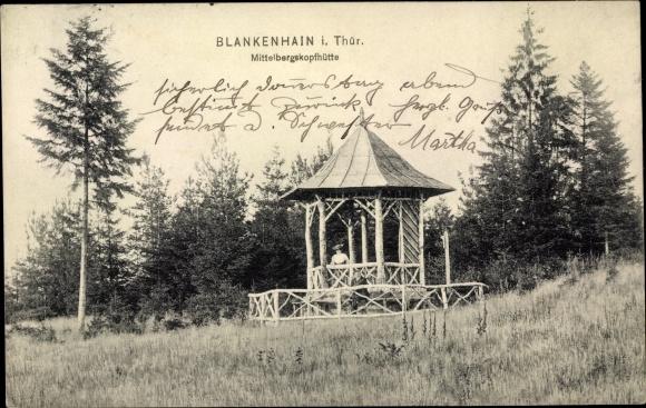 Ak Blankenhain in Thüringen, Mittelbergskopfhütte 0