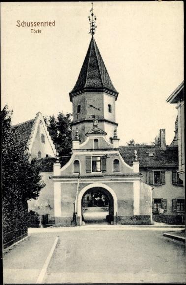 Ak Bad Schussenried in Oberschwaben, Törle 0