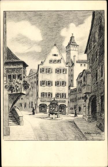 Künstler Ak Ostermayer, R., Stuttgart am Neckar, Geißstraße 0