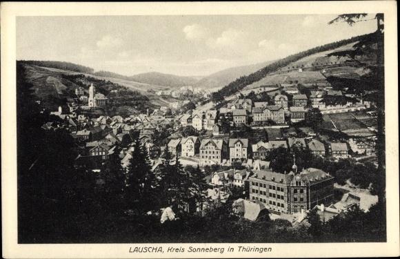 Ak Lauscha in Thüringen, Panorama 0