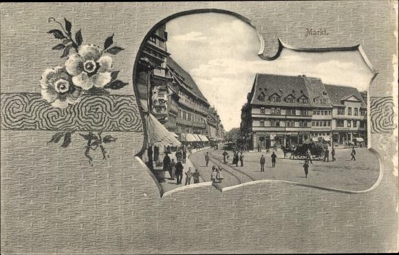 Passepartout Ak Meißen in Sachsen, Markt 0